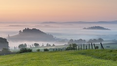 *Golden morning in the volcanic Eifel* (Albert Wirtz @ Landscape and Nature Photography) Tags: landscape paesaggi paysages fog mist brume bruma brouillard foggy misty neblig nebbia laniebla spring frühling volcaniceifel eifelsteig eifeltrail twilight goldenhour dawn eifel vulkaneifel auel basberg steffeln deutschland rheinlandpfalz rhinelandpalatinate allemagne germany campagne campagna campo natur nature dorf village rural ländlich ruhe friedlich peaceful idylle idyllic nikon d700 goldenmorning layers silence sunriseaurora sonnenaufgang sunrise albertwirtzlandschaftsundnaturfotografie albertwirtzlandscapeandnaturephotography albertwirtzphotography paisaje naturepoetry magicmorningmood springmorning morningmist layersoffog goldenestunde