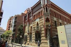 Casa Vicens from the street, Barcelona (*SHERWOOD*) Tags: spain barcelona casavicens antonigaudí