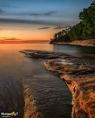 Twilights Glow, Pictured Rocks National Lakeshore (Michigan Nut) Tags: lakesuperior longexposure minersbeach munising nationalpark nature picturedrocksnationallakeshore sunet upperpeninsula outdoors nikond850 goldenhour
