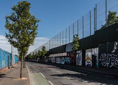 Belfast   |   Peace Line (JB_1984) Tags: peaceline fence wall boundary shankillroad theshankhill fallsroad thefalls belfast northernireland uk unitedkingdom nikon d500 nikond500