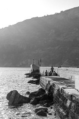 The Peer (b.h_photo) Tags: canon canon80d contrast croatia 80d 50mm nifty fifty niftyfifty artistic apsc peer landscape blackwhite sea komiza vis sunset summer sun beautiful