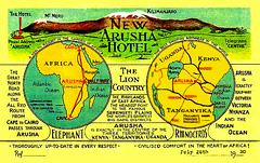 """A Health Resort in the Garden of Africa"" -- 1930 (JFGryphon) Tags: letterhead newarushahotel 1930 1936 tanzania tanganyika"
