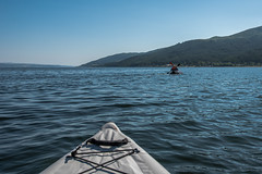 Chasing The Kayakers (Click And Pray) Tags: managedbyclickandpraysflickrmanagr scotland horizontal argyll lake loch ardentinny kayak canoe kayakers chasing scotlandhorizontalargylllakelochardentinnykayakcanoekayakerschasinglochlonggbr