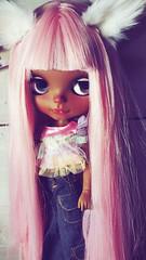 candy (ninimoon =^x^=) Tags: blythecustom ooak pinkhair tan darkskin