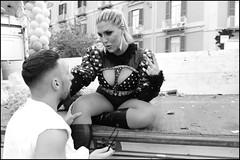 (Leathergirl) (Robbie McIntosh) Tags: leicam9p leica m9p rangefinder streetphotography 35mm leicam autaut candid strangers leicaelmarit28mmf28iii elmarit28mmf28iii elmarit 28mm color pride naplespride ondapride mediterraneanprideofnaples lgbt blackandwhite bw