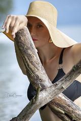 Manuella (d.calabrese71) Tags: lac model modèle collaboration chapeau eau bra wood main hand sexy mature