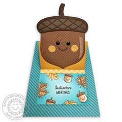 Sunny Studio Stamps Sliding Window Acorn Card #1 (Mendi Y.) Tags: card popup interactive