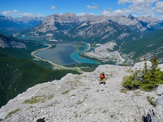 Heart Mountain Scramble - Ben with the Bow River Valley behind him