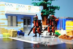 Dark Red Drones have taken life... (Devid VII) Tags: devid lego moc drone drones darkred devidvii diorama scenes