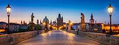 _DSC1539 - The Charles Bridge skyline 3 years after (AlexDROP) Tags: 2018 czechia czechrepublic europe prague praha art travel architecture color city bluehour landscape church tower urban nikond750 afsnikkor28300mmf3556gedvr best iconic famous mustsee picturesque postcard banner panoramic