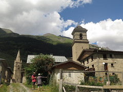The village of Lanslebourg-Mont-Cenis (Sokleine) Tags: village mountains montagne alpes alps houses maisons lanslebourg lanslebourgmontcenis savoie rhônealpes france churches églises clocher tower belltower catholic