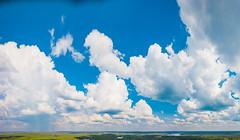 Big sky (miemo) Tags: dji eteläsavo europe mavic mavicpro mäntyharju southernsavonia aerial clouds cumulus day drone fields forest horizon lakes landscape nature panorama sky summer finland fi