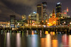 Sydney (edzwa) Tags: therocks newsouthwales australia au sydneycity longexposure nightshot nightphotography streetphotography canonaustralia sigma50mm14art sydney water reflections cityscape