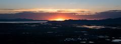 One last look... (joshhansenmillenium) Tags: nikon nikond5500 d5500 tamron tamron18200 sunset sunsets sunsetnerd saltlakecity salt lake city antelope island utah hiking great airplane cloudscape mountains