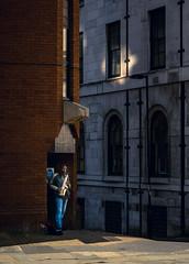 Bluesman (Mike Kniec) Tags: blues man street streetphotography manchester uk city bluesplayer bluesman sax saxophone streetmusician building window shadow darkness sony sonya7 manchesteruk manchestermusician music musicinmanchester jazzstreetmusic jazzmusic