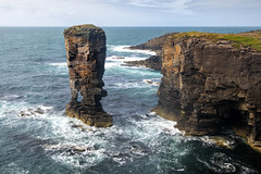 Standing tall and proud. (lawrencecornell25) Tags: landscape scenery scotland orkney yesnabycastle seastack coast outdoors sea cliffs cliffface nikond850