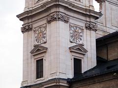 Clock Tower, Salzburg Cathedral (T. Christensen) Tags: clocks churches cathedral salzburg twins flickrfriday