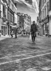 Commercial Street, Leeds (dlsmith) Tags: black white monochrome monochromatic hdr photomatix leeds shopping street stphotografia stphotographia yorksshire hijab yorkshire bw byn blancoynegro blackandwhite