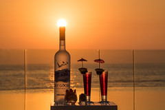 Grey Goose (Paul Saad) Tags: drink sunset sunrise dusk dawn beach sea clouds colors lebanon beirut lancaster bay greygoose vodka greygoosevodka lancasteredenbay