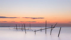 ... and just after the sun set in the sea! (karindebruin) Tags: goereeoverflakkee nederland stellendam thenetherlands visnetten zonsondergang zuidholland fishingnets sunset water