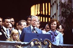 40 years ago. Jimmy Carter visited Bonn. (RickB500) Tags: portrait man jimmycarter carter bonn usa president