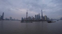 View of Pudong from the Shanghai Bund (j glenn montano 3) Tags: shanghai china bund pudong river gopro timelapse justiniano montano sunrise