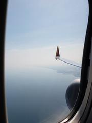 Over Lake Michigan.  P2018-0617T095347E (Tim and Renda) Tags: year2018 md0617 bodiesofwater focallength43mm shutterspeed2000thofasecond t0953 digitalformat geo:lon=8726321400 miller aircrafts geotagged lakemichigan usa june17 indiana windowviewswhileinflight southwestairlines southwestairlinesflight2804 aboardsouthwestflight2804 samungsmg965u1t ingarymiller inflight jetaircrafts stateofindiana burnsharborindiana sandiegocaliforniatrip iso50 birminghamtochicagoflight gary unitedstates fstop24 aviation geo:lat=4163976797