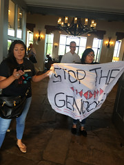 Activists Protest Zinke (WildEarthGuardians) Tags: zinke frackoffchaco fracking keepitintheground