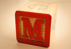 The Letter M (SoS) (13skies) Tags: madeofwood sos saturday smileonsaturday wooden m woodenblock red play macroscopic macro sonyalpha100 sony image