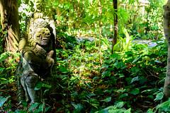 Rakusasa Statue in Yokohama Zoological Gardens : ラクササの石像(よこはま動物園ズーラシア) (Dakiny) Tags: 2018 summer june japan kanagawa yokohama asahiward park city street outdoor zoo yokohamazoologicalgardens zoorasia art sculpture statue hinduism demon devil wood forest green nikon d750 tamron 35mm f18 tamronsp35mmf18divcusd tamronsp35mmf18divcusdmodelf012 sp35mmf18divcusd sp35mmf18divcusdmodelf012 modelf012