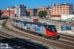 "Northbound Amtrak ""Southwest Chief"" Passenger Train at Kansas City, MO (Mo-Pump) Tags: train railroad railfan railroader railway railroading locomotive"