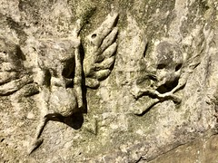 (Yorkshire Churches) Tags: church knaresborough anglican yorkshire st john baptist death skull crossbones hourglass gothic time