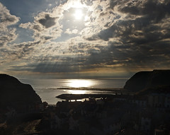Good Morning Staithes (asbrook1991) Tags: sun burst staithes north yorkshire