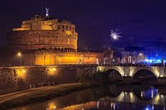 Roma, Italy (Pawelus) Tags: roma italy fireworks bridge night architecture travel lapinski
