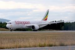 Ethiopian ET-ASG, OSL ENGM Gardermoen (Inger Bjørndal Foss) Tags: etasg ethiopian boeing 787 dreamliner osl engm gardermoen