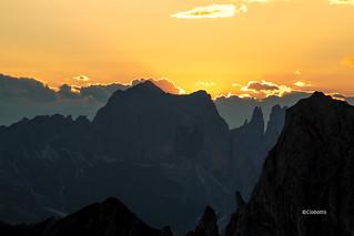 tramonto sul catinaccio