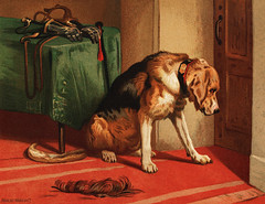 Suspense (1877) by sir Edwin Landseer, a Victorian bloodhound mastiff waiting. Digitally enhanced from our own original plate. (Free Public Domain Illustrations by rawpixel) Tags: otherkeywords tags animal antique art bloodhound canine cc0 chromolithograph cute detailed dignitiy dog doggy dogs domestic domesticated drawings edwin house illustrated illustration illustrations impudence indoors inside landseer landseers lithograph lonely longing mastiff old owner pet picture plate portrait print publicdomain realistic retro sad sir siredwinlandseer suspense tame victorian vintage waiting