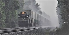 25Z: Drama on The Pittsburgh Line (Images by A.J.) Tags: train railroad railway transportation intermodal stack container pittsburgh line rain pennsylvania norfolk southern laurel highlands stormy freight