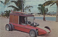 """SE Detroit MI IT'S A SURF WOODY by GEORGE BARRIS -KING OF THE KUSTOMIZERS- Designed by Bob Daniels then became an AMT KIT CAR Troy Michigan AUTOMOBILE HISTORY & HERITAGE (UpNorth Memories - Donald (Don) Harrison) Tags: vintage antique postcard rppc """"don harrison"""" """"upnorth memories"""" upnorth memories upnorthmemories michigan history heritage travel tourism restaurants cafes motels hotels """"tourist stops"""" """"travel trailer parks"""" cottages cabins """"roadside"""" """"natural wonders"""" attractions usa puremichigan """" """"car ferry"""" railroad ferry excursion boats ships bridge logging lumber michpics uscg uslss"""