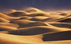 The Sand On Fire (Wind Walk) Tags: death valley national park mesquite sand dunes sunrise fire high wind california