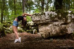 Appui (Pose Emotions) Tags: yoga femme forêt