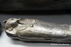 Canopic vessel (konde) Tags: shoshenqii 22nddynasty thirdintermediateperiod tip tanis ancientegypt silver coffin treasure cairomuseum art canopic vase cartouche hieroglyphs nemes tomb
