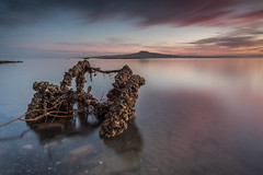 The Relic (Antony Eley) Tags: relic old crusty weathered encrusted glass smooth longexposure seascape water island volcano sunrise pink colour