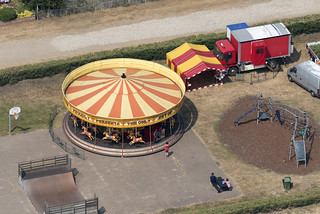 Merry go round ... or carousel on Southwold seafront - Suffolk aerial