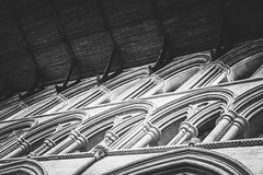 Arches (The Frustrated Photog (Anthony) ADPphotography) Tags: architecture category england hertfordshire internal places stalbans travel canon1585mm canon550d canon indoor architecturephotography arches gothicarchitecture placeofworship church cathedral blackandwhite mono monochrome bw whiteandblack pattern shapes lines stone building