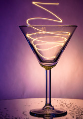 light party in a martini glass (auntneecey) Tags: lightpainting martiniglass tabletop fun longexposure 365the2018edition 3652018 day113365 23apr18