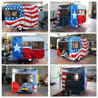 Texas & USA roulotte - by WIZ ART