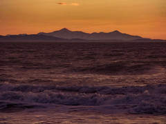 Morning Mauve (Steve Taylor (Photography)) Tags: orange mauve purple newzealand nz southisland canterbury christchurch waves sea pacific ocean surf southernalps winter sunrise dawn twilight