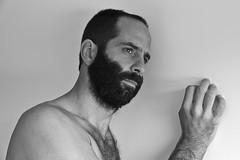 ⚤ Peter # 46 (just.Luc) Tags: portret portrait ritratto retrato porträt face gezicht visage gesicht man male homme hombre uomo mann bn nb zw monochroom monotone monochrome bw baard barbe barba bart beard hand main straight hetero heterosexual