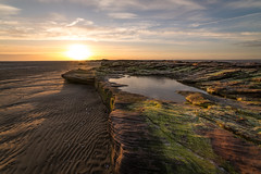 Red Rocks Sunset (Rob Pitt) Tags: red rocks west kirby wirral sunset photographer clouds a7rii sony samyang 14mm f28 landscape sandstone beach sea sky ocean